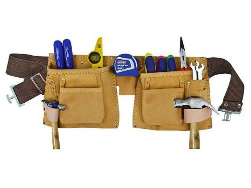 SUEDE DOUBLE TOOL & NAIL POUCH FAITHFULL